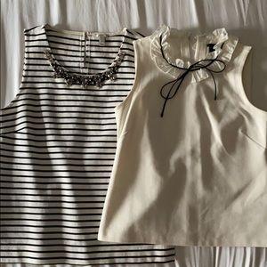 Two Jcrew sleeveless blouse